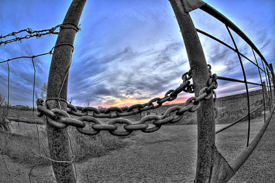 Chained Sky Print by Tom Melo