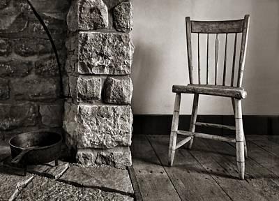 Chair - Fireplace Print by Nikolyn McDonald