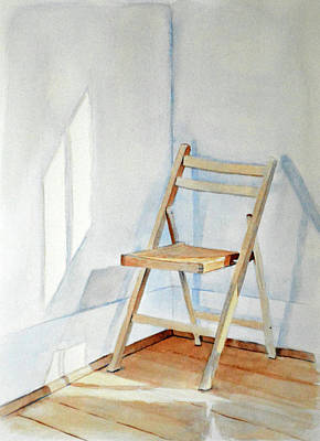 Old Objects Painting - Chair In Corner by Christopher Reid