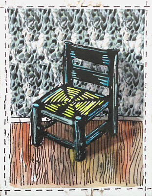 Lino Mixed Media - Chair Ix by Peter Allan