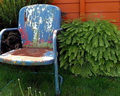 Chair Of Many Colors Print by Patricia Strand