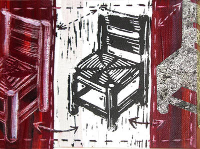 Lino Mixed Media - Chair V by Peter Allan