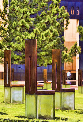 Empty Chairs Photograph - Chairs At The Gate by Ricky Barnard