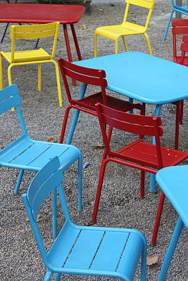 Chairs In Bryant Park Print by Lauri Novak