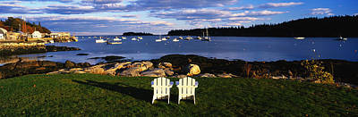 Lawn Chairs Photograph - Chairs Lobster Village Me by Panoramic Images