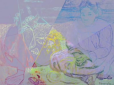 Impressionism Digital Art - Chalkboard by David Bridburg