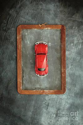 Chalkboard Toy Car Print by Edward Fielding