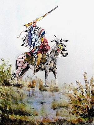 Sioux Drawing - Challenge by Jimmy Smith