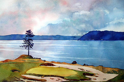 Amateur Painting - Chambers Bay 15th Hole by Scott Mulholland