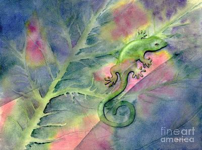 Salamanders Painting - Chameleon by Amy Kirkpatrick