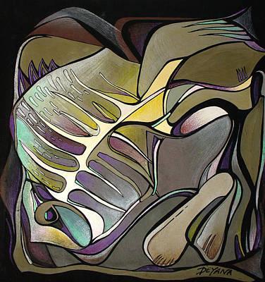 Chameleon Fish Print by Deyana Deco