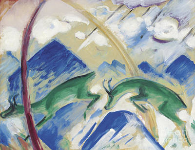 Mountain Goat Painting - Chamois by Franz Marc