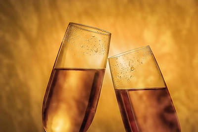 Close Up Photograph - Champagne Toast by Tom Mc Nemar