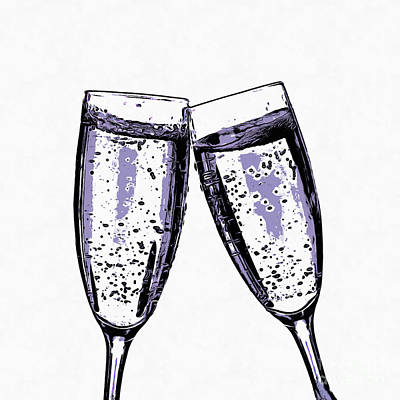 Champagne Wishes And Caviar Dreams Print by Edward Fielding