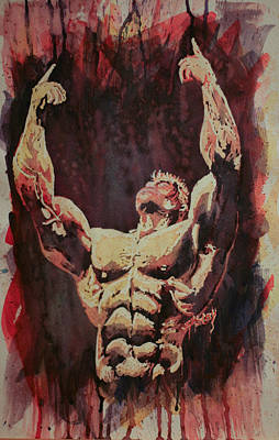 Bodybuilding Painting - Champion by Caleb Shelby