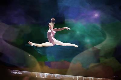 Gymnasts Digital Art - Championship by Jean Francois Gil