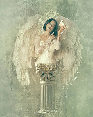 Angelic Digital Art - Chamuel by Mary Hood