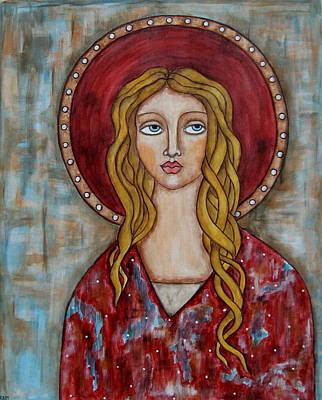 Christian Art . Devotional Art Painting - Chamuel by Rain Ririn