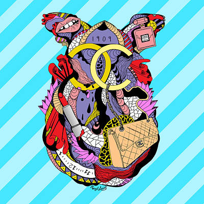 Chanel Abstract Fashion Print by Kenal Louis