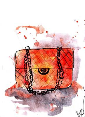 Western Purses Painting - Chanel Bag by Sweeping Girl