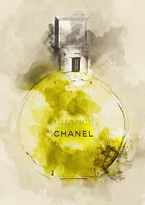 Chanel Painting - Chanel Chance Perfume - By Diana Van by Diana Van