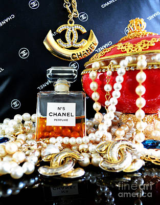Chanel No 5 And Egg 2 Print by To-Tam Gerwe