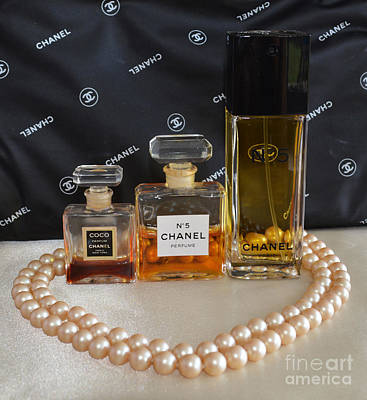 Chanel With Pearl Heart  Print by To-Tam Gerwe