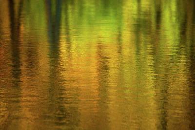Of Autumn Photograph - Changing Seasons Reflecting by Karol Livote