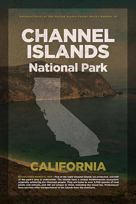 National Parks Mixed Media - Channel Islands National Park In California Travel Poster Series Of National Parks Number 10 by Design Turnpike