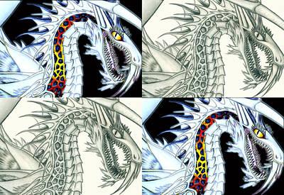 Chaos Dragon Fact W Fiction Print by Shawn Dall