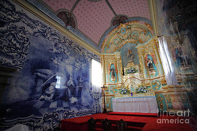 Chapel In Azores Islands Print by Gaspar Avila