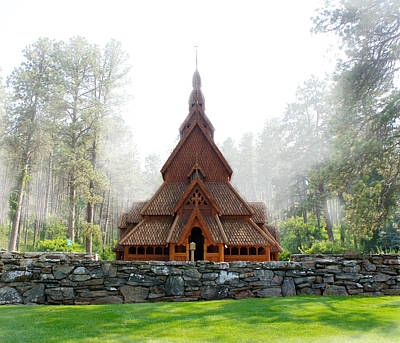 Woodcarving Photograph - Chapel In The Hills by Art Spectrum
