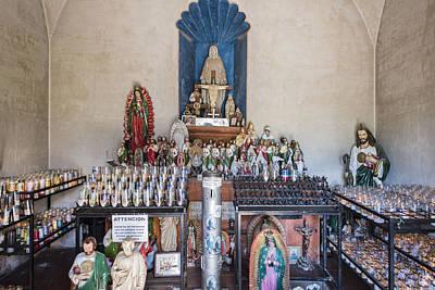Chapel Mortuary Interior - San Xavier Del Bac Mission - Tucson Arizona Print by Jon Berghoff