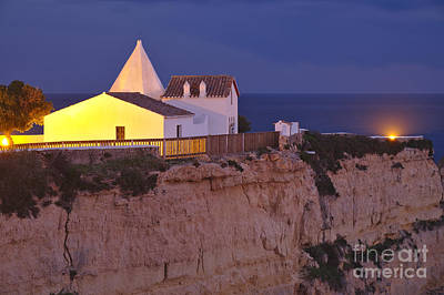 Church Photograph - Chapel Nossa Senhora Da Rocha At Night In Algarve by Angelo DeVal