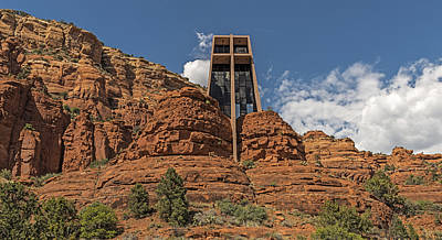 Integrated Photograph - Chapel Of The Holy Cross by Loree Johnson