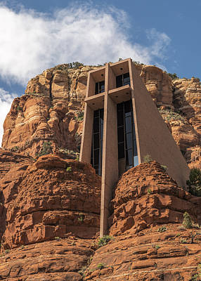 Integrated Photograph - Chapel Of The Holy Cross Vertical by Loree Johnson