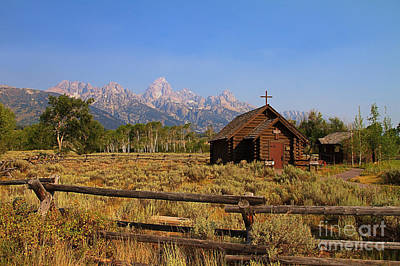 Log Cabins Photograph - Chapel Of The Transfiguration by Teresa Zieba