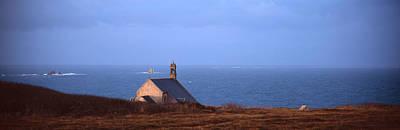 Chapelle Photograph - Chapel On The Coast, La Chapelle De by Panoramic Images