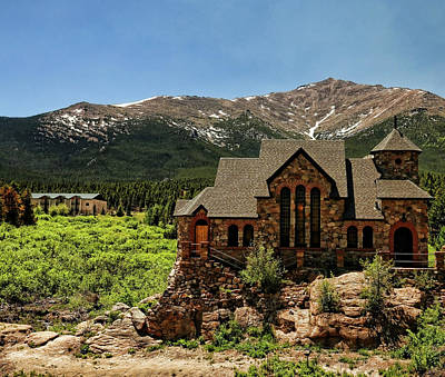Saint Catherine Of Siena Chapel Photograph - Chapel On The Rocks 2 - Colorado by Judy Vincent