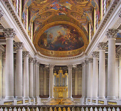 Chapel - Palace Of Versailles - France Print by Nikolyn McDonald