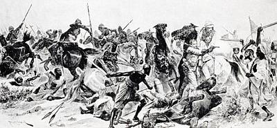 21st Drawing - Charge Of The 21st Lancers At Omdurman by Vintage Design Pics