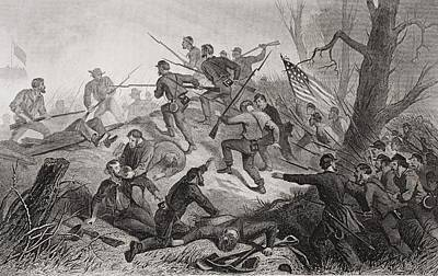 Tennessee Drawing - Charge On Fort Donelson Tennessee 1862 by Vintage Design Pics