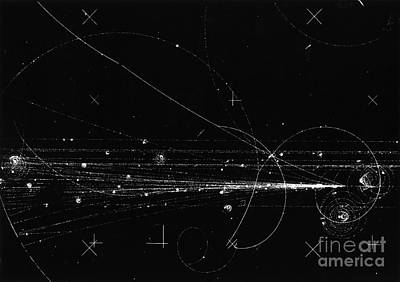 Charged Particles, Bubble Chamber Event Print by Science Source