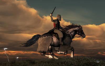 Charging Knight Print by Daniel Eskridge