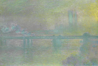 Charing Cross Bridge, London Print by Claude Monet