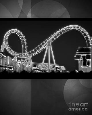 Rollercoaster Photograph - Charity Coaster by Tom Gari Gallery-Three-Photography