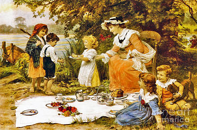 Charity  Sweet Moment, Print by Frederick Morgan
