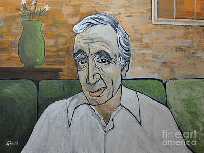 Charles Aznavour Print by Reb Frost