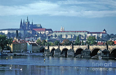Photograph - Charles Bridge Prague Castle Tom Wurl by Tom Wurl