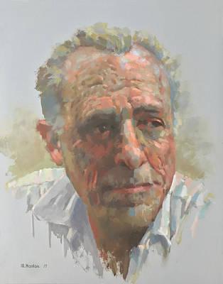 Bukowski Painting - Charles Bukowski by Mike Hanlon
